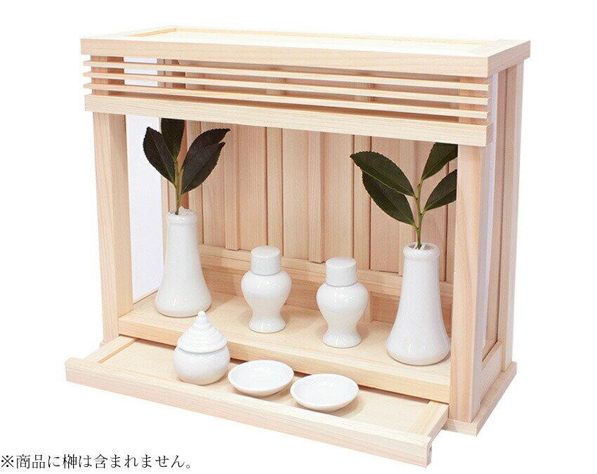 純日本製神棚 箱宮 神楽ミニ 神具付き