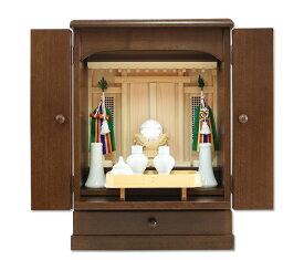 安心の日本製 祖霊舎 柚月18号 ウォールナット色 上置型 モダン祖霊舎・御霊舎