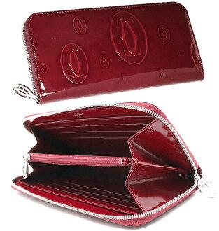卡地亚钱包卡地亚拉链钱包生日快乐生日快乐专利围巾皮钱包和 L3000721 波尔多