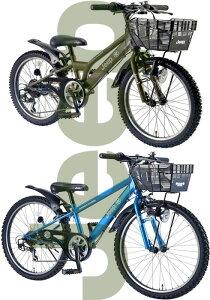 JEEP ジープ 子供用自転車シマノ製6段変速ギア20インチキッズバイク22インチ 24インチ自転車ライト&ロゴ入り前カゴCTBKID'SJr.BIKEブルー オリーブグリーン泥除け&リング錠標準装備ウイングツ