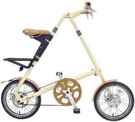 スムーズコンパクト 小径車16インチ折り畳み自転車制動力抜群の前後輪ディスクブレーキ採用油で袖が汚れることもないベルトドライブクリーム ブラック レッド ブラッシュ ホワイト ターコイズブルーハンドルまで折りたたみ