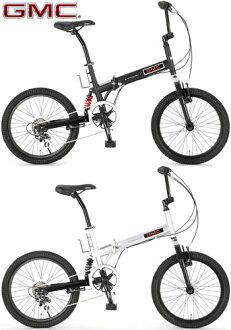 GMC GMC 折叠 20 寸自行车小轮车 BM x 山地自行车双打作为悬架安装由禧玛诺 6 速齿轮与小轮车 FDB206W-sus 哑光黑银 W 南部山地车