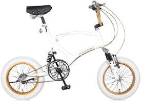 BMX Free Style Bike16インチコンパクト自転車極太タイヤ&鋲打ちテリーサドル3段変速ギア搭載で街乗りも楽々衝撃吸収ダブルサスペンション斬新フレームで小回りが利くブルー マットブラック ホワイト ダークシルバーWサス搭載ミニベロ