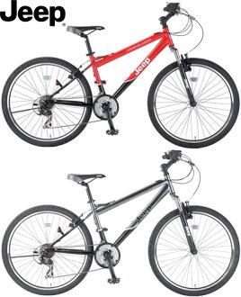 吉普吉普科曼奇拉雷多 26 寸自行车山自行车山地车悬架 18 速度齿轮的奇人拉雷多红色钛 ATB F 悬浮流行性乙型脑炎-268FTE