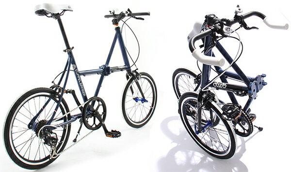 20インチ折り畳み自転車クロスバイク ミニベロ DGネイビーブルー 軽量アルミフレームシマノ製7段変速ギアブルホーンハンドルバー クロスフレーム前輪クイックリリース 小径車折りたたみ自転車 ワイヤーロック フォールディングバイク