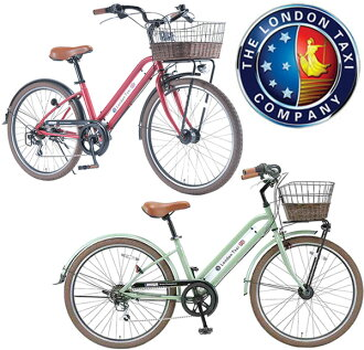 英国品牌 クラシカルスタイリッシュ 眼线笔帧联盟杰克板城周期 26 寸自行车海滩巡洋舰米色黑色六速齿轮铁线篮子