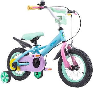 補助輪付き子供用自転車 12インチ幼児車14インチ子供用自転車 16インチキッズバイクカラーリム&パステルマルチカラーパーツライトブルー パープル ピンク イエロー エメラルドグリーン安