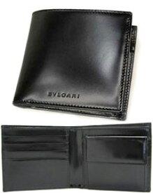 BVLGARI ブルガリ クラシコ小銭入れ付き2つ折り財布スムースカーフ ブラックCLASSICO 20064メンズ 二つ折り財布SMOOTH CALF BLACKサイフ さいふ ウォレットロゴ刻印