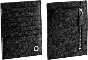BVLGARI ブルガリ小銭入れ付きクレジットカードケーススマホケース コインケースパスケース カードホルダー定期入れ カードケースブラックグレインカーフレザーブルガリブルガリマン 携帯