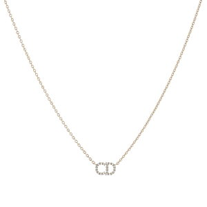 Christian DiorクリスチャンディオールペンダントネックレスCDロゴゴールドチェーンネックレスエレガントラインPENDANT NECKLACE D301GD