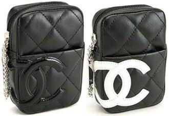 9c77d94a85ef79 Chanel cigarette case A26732 CHANEL Cambon line 26732 belt through tobacco  put cigarette with case black