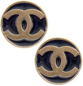 CHANEL シャネルピアス ゴールド×ネイビー ×ワインレッドCCロゴ ラウンドプレートコインプレート PIERCESレディース アクセサリー耳元のアクセントにBORDEAUX NAVY GOLD Y50402Z2715WI