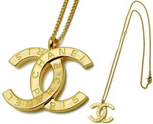 CHANEL シャネル ビッグココマークCCゴールドプレート CC ペンダントネックレスアクセサリーPENDANT NECKLACE N772GDBig CocoMark Logo Necklace GHW