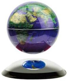 ドーム型ミラーベースの上で浮揚する地球儀神秘的に中に浮く直径14cmの地球儀マグネチックグローブ電磁誘導マグネットグローブブルーオーシャン ゴールド ブラック電源を入れると磁力が発生し中に浮きますインテリアやプレゼントとして人気