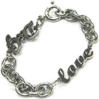 D g bracelet Jewelry Silver bless link chain D & G Black writing slim LOVE Jewelry Bracelet DJ0553 DOLCE &GABBANA Dolce & Gabbana d g ladies
