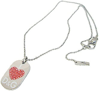 bf0a58505 D & G necklace Jewelry Silver tag plate rhinestones grind logo dog  tag
