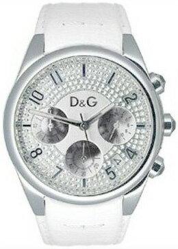 DOLCE&GABBANA 腕時計ドルチェ&ガッバーナ レディースウォッチ ホワイトレザーベルトサンドパイパー クロノグラフRINGドルガバ ドルチェ&ガッバーナDW0257SLWH SANDPIPERドルガバ D&G ディー&ジー