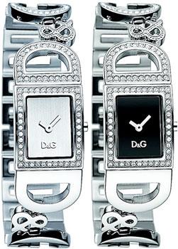 DOLCE&GABBANA D&Gドルチェ&ガッバーナ 腕時計ドルガバ アナログウォッチラインストーン ロゴブレス アイルランドシルバー IRELANDブラック DW0579 ホワイト DW0578ディー&ジー レディースアクセサリーのブレスレットとしてもOK