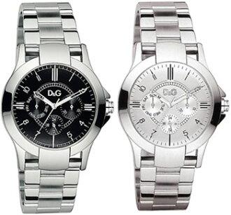 D & G watch dexas-analog watch date calendar day 24 hour display black silver DOLCE GABBANA DW0537 DW0538 TEXAS Dee & Gee men's Dolce & Gabbana accessories bracelet