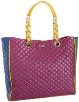 a622e601ab DOLCE  GABBANA multicolor tote bag Lily gram quilted yellow line purple  pink logo plate d  amp  g Dolce  amp  Gabbana DB 1093 E 7093 89001 D  amp   G d  amp  ...