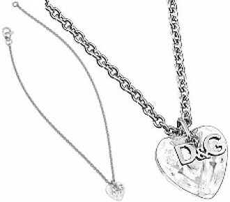 D & G Jewelry Dolce & Gabbana jewelry pendant necklace crystal clear 3D heart & slim double top accessories gifts for ladies DOLCE &GABBANA d DJ1058 ...