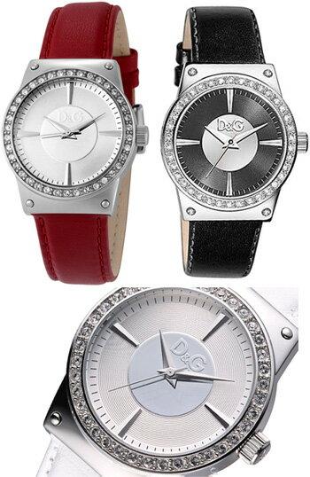 D&G DOLCE&GABBANA 腕時計ドルガバ ウォッチ サンダンスレッド ホワイト ブラックDW0526REDW0524WHDW0528BKレザーベルト ラインストーン Sandanceディー&ジーレディースドルチェ&ガッバーナアクセサリー ブレスレット