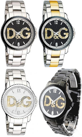 DOLCE&GABBANA 腕時計ドルチェ&ガッバーナ ウォッチブラック シルバー DW0703 DW0759 DW0760 DW0710ワイド ステンレスベルトロゴ文字盤D&G WATCH SESTRIEREドルガバ アナログディー&ジー セストリール男性用 女性用