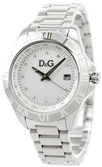 DOLCE&GABBANA 腕時計ドルチェ&ガッバーナ レディースウォッチラインストーン×シルバーステンレスベルトラインストーン 日付表示D&G WATCH DW0765SLWH CHAMONIXドルガバ アナログ レディースディー&ジー シャモニ 女性用