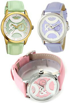 DOLCE&GABBANA 腕時計ドルチェ&ガッバーナ ウォッチレザーベルトピンク ライトパープルライトグリーンDW0756PKDW0757LPPDW0758LGND&G WATCH TWIN TIPドルガバ アナログディー&ジー ツインチップ女性用 レディース