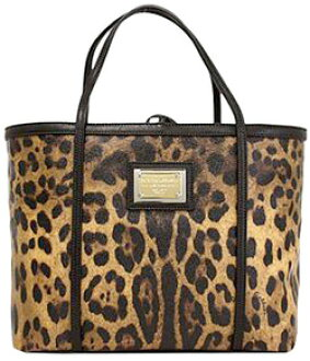 c69ddfbbc2 DOLCE GABBANA PVC x leather tote bag Leopard print logo plate inside  canvas  Leopard Brown ( inner  black) hardware  Gold   Silver satchel bag handbag d  ...