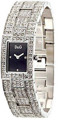DOLCE&GABBANA ドルガバドルチェ&ガッバーナ 腕時計D&G TIME watch C'est chic 3719251037BKラインストーンベルト シルバーバンド リストウォッチブレスレットアクセサリーディー&ジー レディース シエストチック