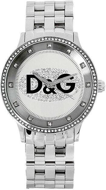 DOLCE&GABBANA D&Gドルチェ&ガッバーナアナログ腕時計 プライムタイムTIME watch PRIME TIMEオーバル ラインストーン ステンレスブレスDW0131SLWHBKドルガバ ディー&ジー