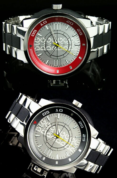 DOLCE&GABBANAドルチェ&ガッバーナ 腕時計 イビザロックD&G TIME watch IBIZA ROCKSアナログ メンズスDW0077SLBKDW0078 テンレス ブラック レッド