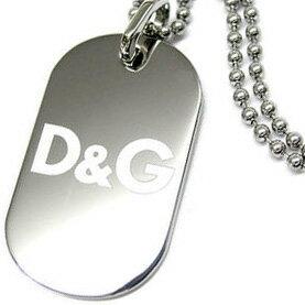 D&G DOLCE&GABBANA ドルチェ&ガッバーナ ネックレスシルバー ロゴプレート シンプルアクセサリー プレゼントDJ0016