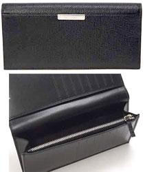 DIOR HOMME ディオールオム ファスナー小銭入れ付き長札財布型押しブラック ロゴ刻印プレートさいふ サイフ 財布BUFC2722 N0