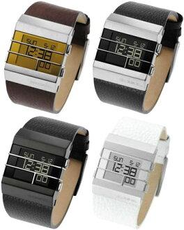 柴油 DZ4069 柴油 DZ7070 DZ7071 DZ7087 的手表数字手表皮革带天、 月份和日期的日历显示男士黑色棕色白色银 x 深棕色黑色银色