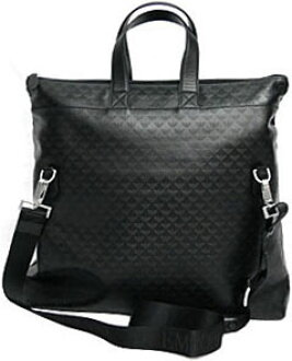 0382cc2d4e3e EMPORIO ARMANI mens 2WAY tote bag leather Emporio Armani black front double  Pocket Eagle Mono g Golding shoulder bag bag bag bag back brand new unused  ...