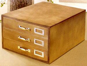 ウッドマルチレターケース小物入れ 引き手 引き出しLetter Case tray mltiform木製 ネームタグポケットA4サイズスライドトレー3段書類ケースウッドブラウン デスクラック 収納ボックス