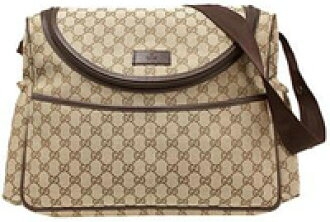 ac1a328dd2c8 GUCCI Gucci GG fabric diaper bag diaper replacement leather seat with (  cowhide ) beige GG