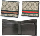 81ed74fb851 GUCCI Gucci Web rubx mens 2 fold wallet GG pattern webbing line GG plus  coated canvas leather ( cowhide) fabric beige GG x black beige GG x dark  brown ...