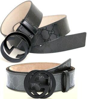 b0ae4737a kaminorth shop: GUCCI Gucci belt GG IMPRIM 1000 1320 black Platinum ...