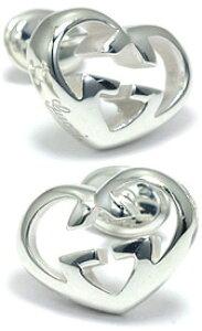 GUCCI グッチ ピアスインターロッキングGハートレディース アクセサリー 0701 PIERCEオープンハート スターリングシルバーEarrings with interlocking G Heart motif in sterling silver