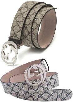 1c35115052a kaminorth shop  GUCCI Gucci belt coating GG canvas double G buckle 114984  FPN3N4506 iridescent blue Navy FU49N8108 silver mens Womens unisex unisex  ...