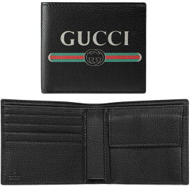 2ddcd5faf4c7 GUCCI グッチメンズ 小銭入れ付き2つ折り財布型押しカーフレザーグリーン×レッド