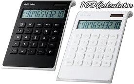 オートパワーオフデュアルパワー10桁電卓ソーラーカリキュレーター スタイル計算機ブラック ホワイト仕事場でもデザインにコダワルならコレ10桁 太陽電池Desk Calculator実用性の高いコンパクトな計算機