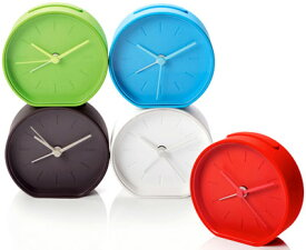 LEXON レクソンスヌーズ機能付き目覚まし時計ラバーアラームクロックサイレント仕様の秒針を採用しているので枕元に置いても静か暗くても安心バックライト機能付きホワイト ライトブルー グリーン レッド グレーデスククロック 置き時計