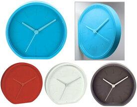 LEXON レクソン置時計&掛け時計ラバーウォールクロックサイレント仕様の秒針を採用しているので静かホワイト ライトブルー グリーン レッド グレー向きが自由で垂直に取り付けも可能!ウォールクロック デスククロック 掛け時計