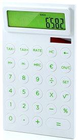 LEXON Calculator Maizyレクソン デスクトップカリキュレーター12桁表示計算機 通貨換算機能付き電卓ホワイト×バンブーグリーンのコンピネーション無駄を省いたシンプルでスタイリッシュデザインOffice Calculator PLA Plastic White