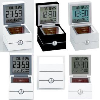 时钟华利 LR113 MORPHEE rexon 更多 filk 液晶时钟闹钟双仪式时间、 日期和温度显示报警功能立方型置ki 手表铝,黑色,白色