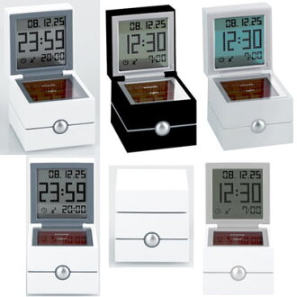 Clock LEXON LR113 MORPHEE rexon more filk lock LCD alarm clock dual ceremony time, date, temperature display alarm feature cubic 型置ki watch aluminum, black, white